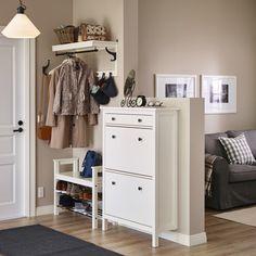 HEMNES schoenenkast   #IKEA #IKEAnl #landelijk #opbergen #schoenrekje #kapstok #hal