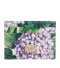 Dolce & Gabbana Hydrangea Print Card Holder