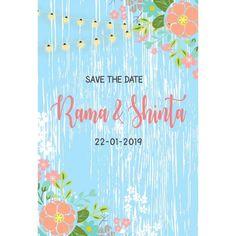Rustic, Blue Floral, wedding card, wedding invitation, undangan, Celebrations, invitations, congratulations, CARDS, vectors, gift CARDS,flower