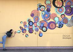 San Tan Village - 5 New Arizona Murals – Kelsey Montague Art Mural Wall Art, Mural Painting, Art Bizarre, Group Art Projects, Instagram Wall, Interactive Walls, School Murals, Murals Street Art, Wall Art Designs