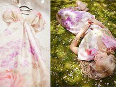 floral print bridesmaid dresses | floral printed wedding dress or bridesmaid gown | OneWed.com