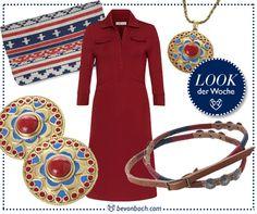 Rot und Blau und tolle Muster - unser Look der Woche! #bevonboch #fashion essential