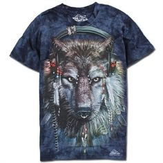 The Mountain Big Face Animals 3D T-Shirts Short Sleeves - Wolf - Shipping Cap Promotion- - TopBuy.com.au