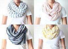 scarves + patterns + simplicity.