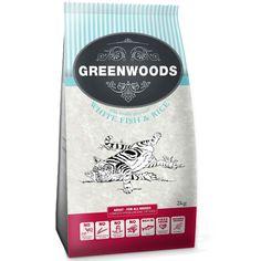 Animalerie  Greenwoods Adult poisson riz pour chat  2 x 2 kg