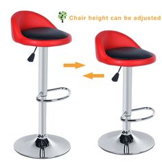 2pcs leather bar stool chair tabouret de comptoir tabouret de bar industriel designer stainless steel rotating leather stools #jewelry, #women, #men, #hats, #watches, #belts, #fashion