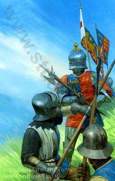 Combate de en la Batalla de Tewkesbury 1471.