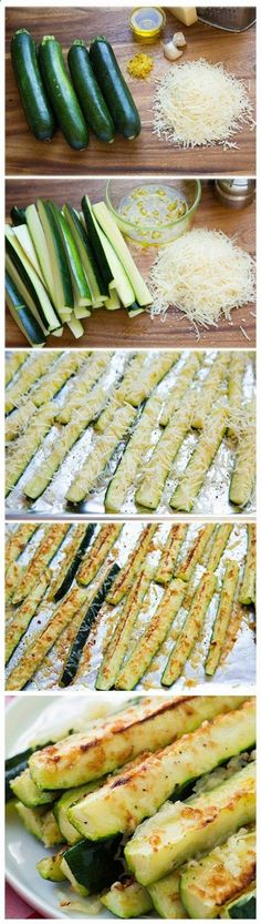 Garlic Lemon and Parmesan Oven Roasted Zucchini You are going to LOVE the flavor of this zucchini.....they are incredibly easy to make! | http://CookingClassy.com Check out more recipes like this! Visit yumpinrecipes.com/