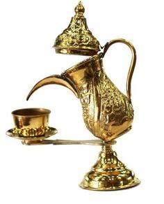 "Handmade Antique Arabian Brass Coffee Pot (Ibrik) - (8""H x 7""L x 4""W) by Egyptian Treasures, http://www.amazon.com/dp/B0055QE9NI/ref=cm_sw_r_pi_dp_Z.h.pb01N3YAY"