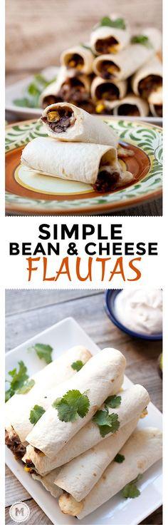 Bean and Cheese Flautas