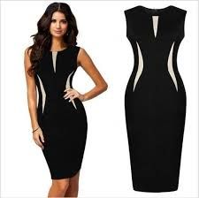 Cheap summer dress, Buy Quality casual dress directly from China tunique femme Suppliers: summer dress 2017 lace sheath tunique femme women clothes sleeveless knee length vetement empire solid femme casual dresses Trendy Dresses, Casual Dresses For Women, Nice Dresses, Fashion Dresses, Clothes For Women, Semi Formal Mujer, Party Mode, Black Women Fashion, Celebrity Dresses