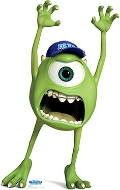 Advanced Graphics Mike Wazowski - Disney Pixar Monsters University Cardboard Stand-Up Monsters Inc Characters, Monsters Ink, Disney Monsters, Cartoon Characters, Green Characters, Funny Monsters, Monster University Party, Monsters Inc University, Mike And Sulley