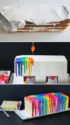 Rainbow cake: coming out celebration, pride party?