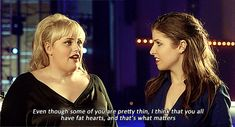 Fat Amy (Rebel Wilson) is our favorite character in Pitch Perfect. Here are our favorite quotes from her. Tv Quotes, Movie Quotes, Funny Quotes, Fat Amy Quotes, Quotable Quotes, Pitch Perfect Quotes, Youre My Person, All That Matters, Great Movies