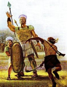 David and Goliath. 1 Samuel 17:41-50