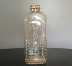 Vintage glass water bottle