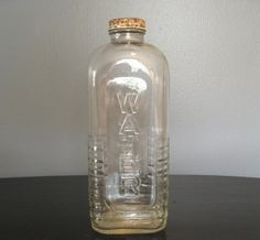 glass water bottle