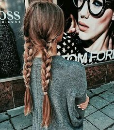 Imagem de hair, girl, and braid