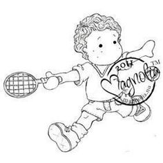 Magnolia The Winner Takes It All Cling Stamp - Tennis Edwin