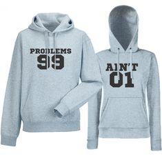 Hanorace pentru Cupluri Problems 99 Hoodies, Sweatshirts, Graphic Sweatshirt, Couples, Sweaters, Clothes, Fashion, Places, Outfits