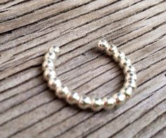 Toe ring sterling silver jewelry beaded wire  pattern by beadsoul, $10.00