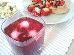Red sparkling aperitivo