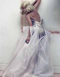 WHAT a gorgeous back view, corset by craig mcdean