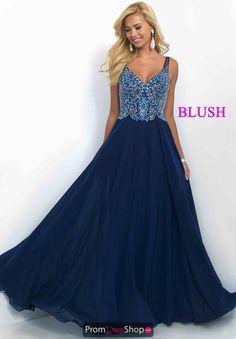 Stunning Navy A Line Blush Dress 11058