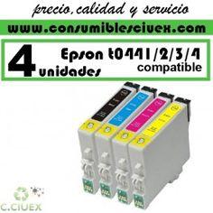 Tinta compatible epson t0441/2/3/4 x4