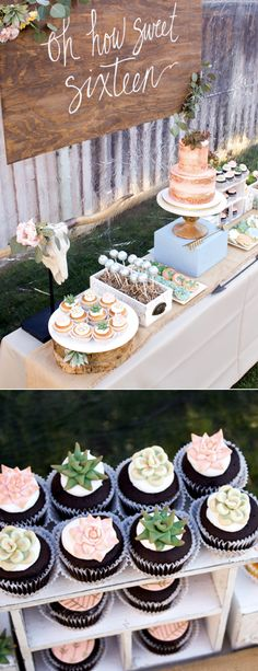 This boho themed party was inspired by desert sunsets and my daughter's love of succulents. The details are perfect for any boho party or boho wedding. via @HostessTori