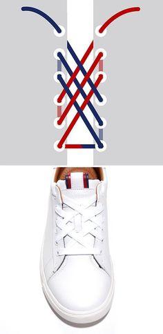 Dantel şeklinde ayakkabı bağlama ✌
