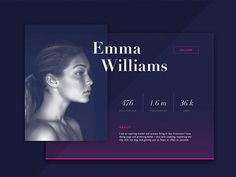 50 User profile page — Design Inspiration – Muzli -Design Inspiration