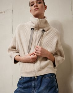 Cardigan Brunello Cucinelli - Sweat Shirt - Ideas of Sweat Shirt - Cardigan Brunello Cucinelli Sweat Shirt, Cool Sweaters, Sweaters For Women, Sport Fashion, Womens Fashion, Daily Fashion, Knitwear Fashion, How To Purl Knit, Pullover
