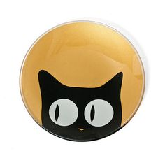 Gold Side Cat Eye Glass Plate