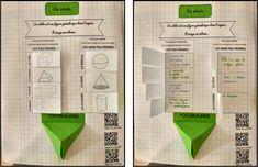 Leçon interactive sur les solides – Tablettes & Pirouettes Cycle 3, Geometric Solids, Math 5, Interactive Notebooks, Fractions, Mathematics, Bar Chart, University, College