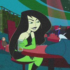 Shego: the badass Kim Possible's animated series cartoon character. Female Cartoon Characters, Cartoon Icons, Cartoon Art, Cartoon Wallpaper, Disney Wallpaper, Kim Possible Characters, Blush Wallpaper, Female Villains, Elves Fantasy
