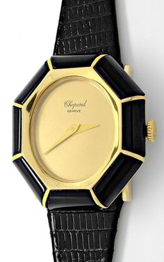 Foto 2, Chopard Damen-Armbanduhr Gold Onyx-Lünette Topuhr Neuz., U1928 | juwelier-haeger.de