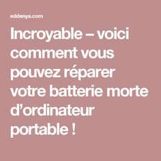 Incroyable – voici comment vous pouvez réparer votre batterie morte d'ordinateur portable ! Mac Ipad, Geek Gadgets, Sem Internet, Things To Know, Fun Facts, Life Hacks, Coding, Technology, Iphone