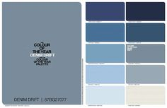 Blue is the Hue for Dulux 2017 Blue is the Hue for Dulux 2017 - Dulux predict that Denim Drift with be THE colour for 2017 Shabby Chic Bedrooms, Shabby Chic Cottage, Shabby Chic Homes, Shabby Chic Paint Colours, Shabby Chic Painting, Blue Bedroom, Bedroom Colors, Hallway Colours, Blue Hallway