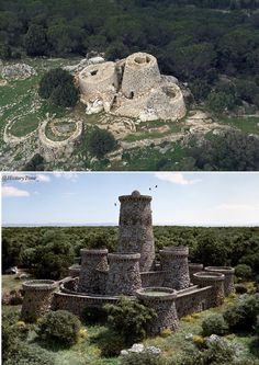 Nuraghe, ancient megalithic edifice found in Sardinia, developed during the Nuragic Age between 1900 and 730 BCE. Style of facade to use for brickwork