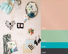 color trend by Tikkurila Paint Swatches, Pink Yellow, Color Trends, Color Patterns, Kids Room, Photo Wall, Gallery Wall, Frame, Creative