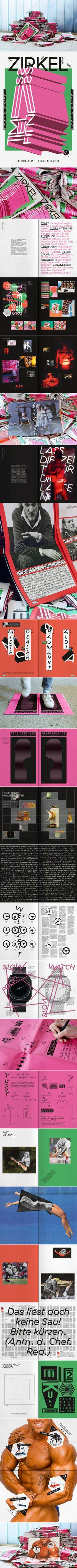 Der Zirkel, der macht Magazin Ausgabe #1 Frühjahr 2014 - Marcel Häusler Grafik