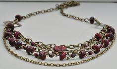 Crimson Tide Bead & Chain Layered Necklace £14.50
