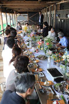 社員番号1番、Araki氏の結婚式。屋久島にて。