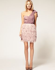 Asos!!!  http://www.asos.com/ASOS/ASOS-PETITE-Exclusive-One-Shoulder-Corset-Dress-With-Feather-Skirt/Prod/pgeproduct.aspx?iid=1703299&cid=8799&Rf-300=1878&sh=0&pge=0&pgesize=200&sort=3&clr=Black