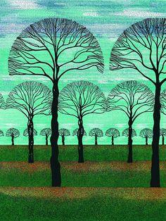 Blue Sky Fall, Art Print, 10 X 7 Pen and Ink Lithograph, Pointillism, via Etsy. by Changing Realities Art Gallery (Lawrie) Zentangle, Fall Art Projects, Inspiration Art, Tree Illustration, Epic Art, Ink Pen Drawings, Autumn Art, Art For Art Sake, Fantastic Art