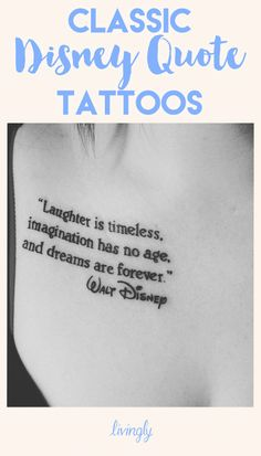 These Classic Disney Quote Tattoos Will Make You Feel All The Feels
