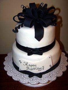 50th Birthday cake. All fondant