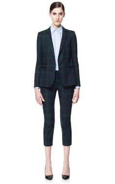 TARTAN BLAZER - Blazers - Woman | ZARA United Kingdom