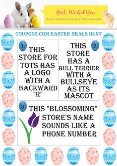 Easter Treats for Kids + Join Coupons.com Easter Deals Hunt $400 Amazon Giveaway #Coupons.com #EasterDealsHunt #SPONSORED April 7 12:01 AM EST – April 21, 2014 11:59 PM EST. US ONLY http://madamedeals.com/?p=489077 #inspireothers
